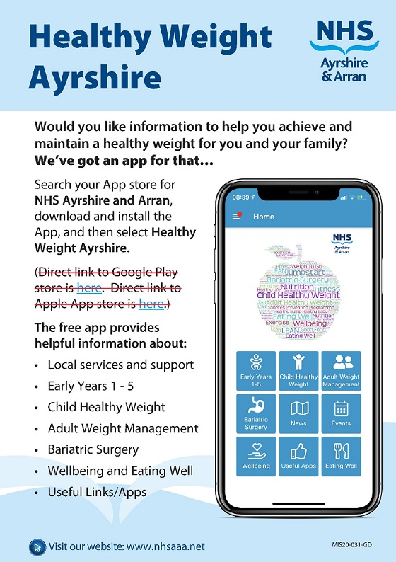NHS Healthy Weight App